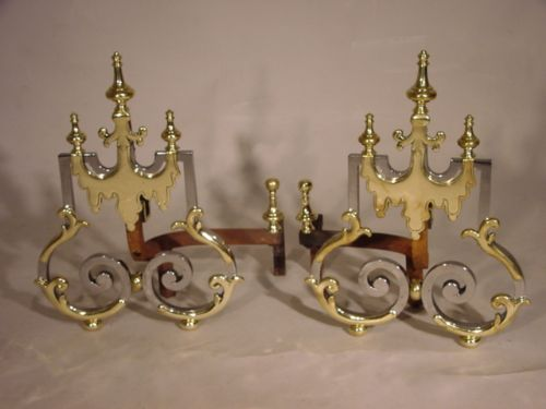 pair of unusual french andirons