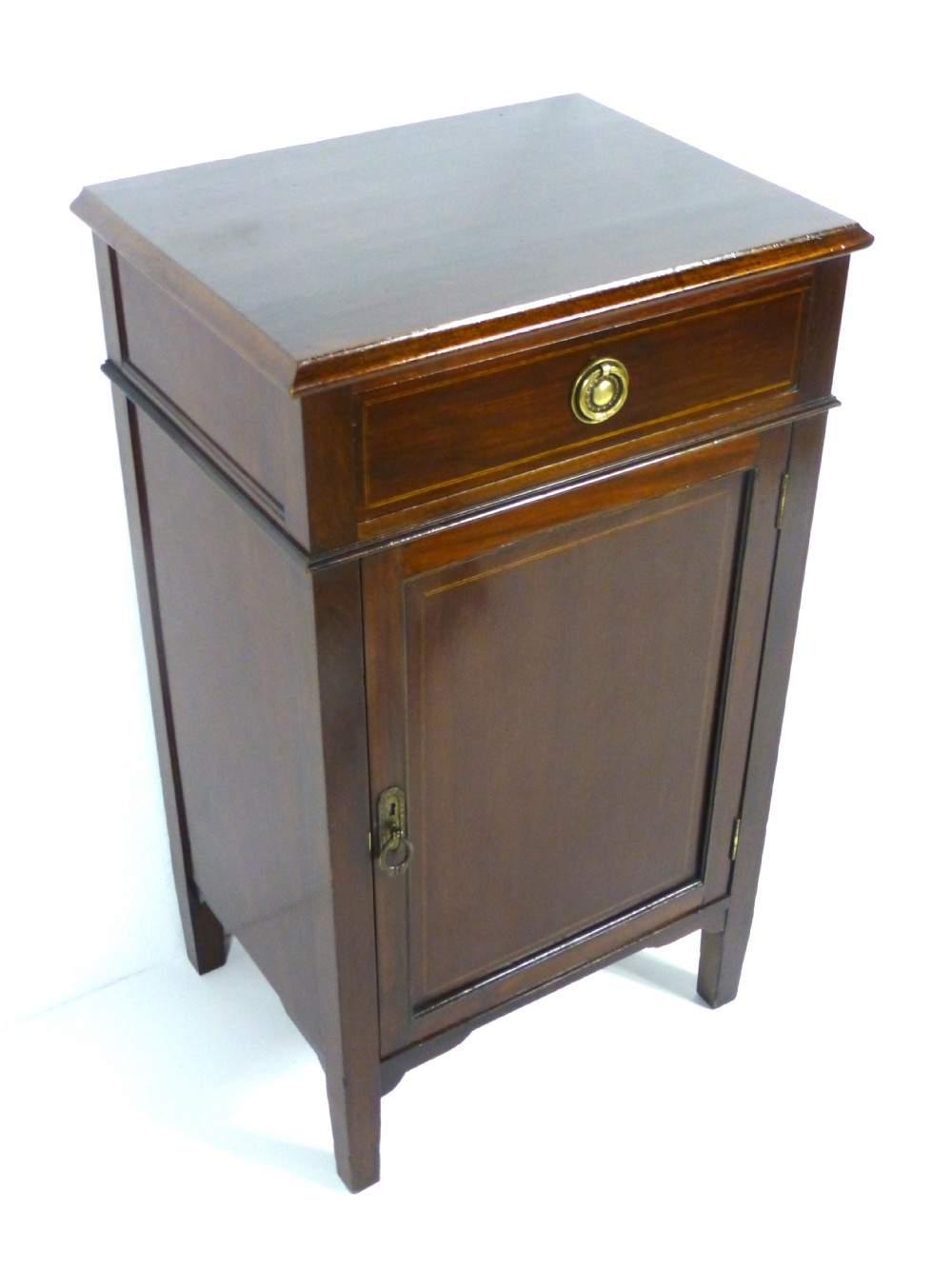Antique edwardian mahogany bedside or pot cupboard cabinet for Cupboard or cabinet