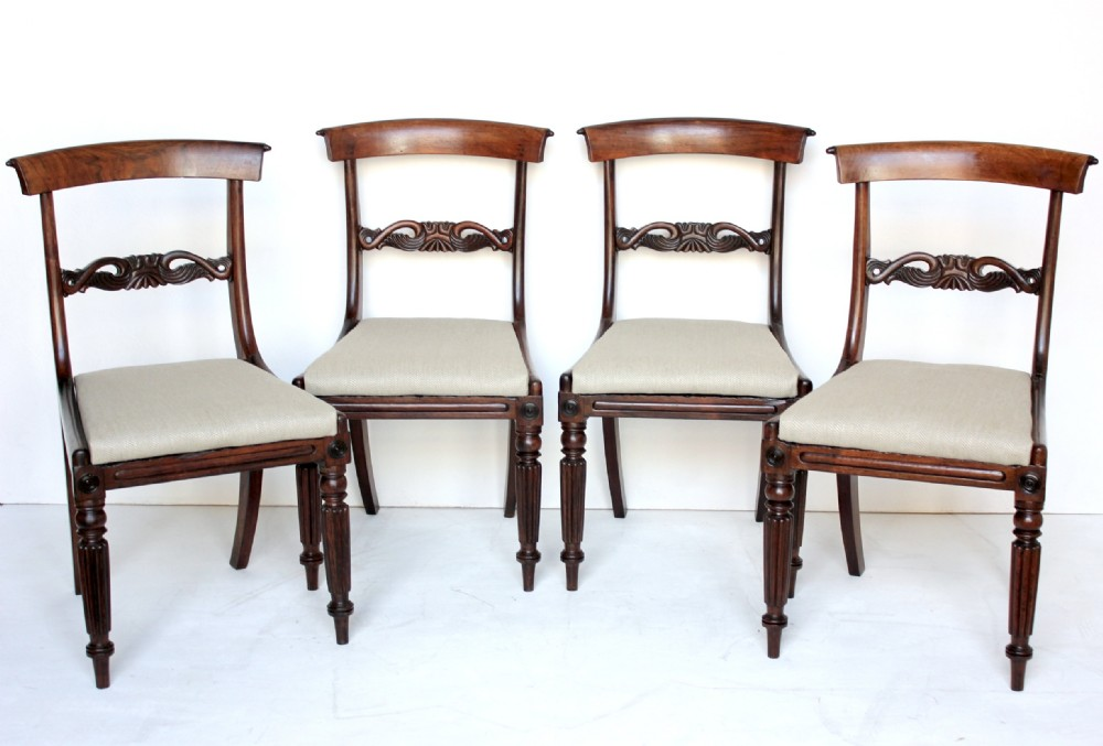 set of 4 antique rosewood dining chairs - Set Of 4 Antique Rosewood Dining Chairs 297641 Sellingantiques