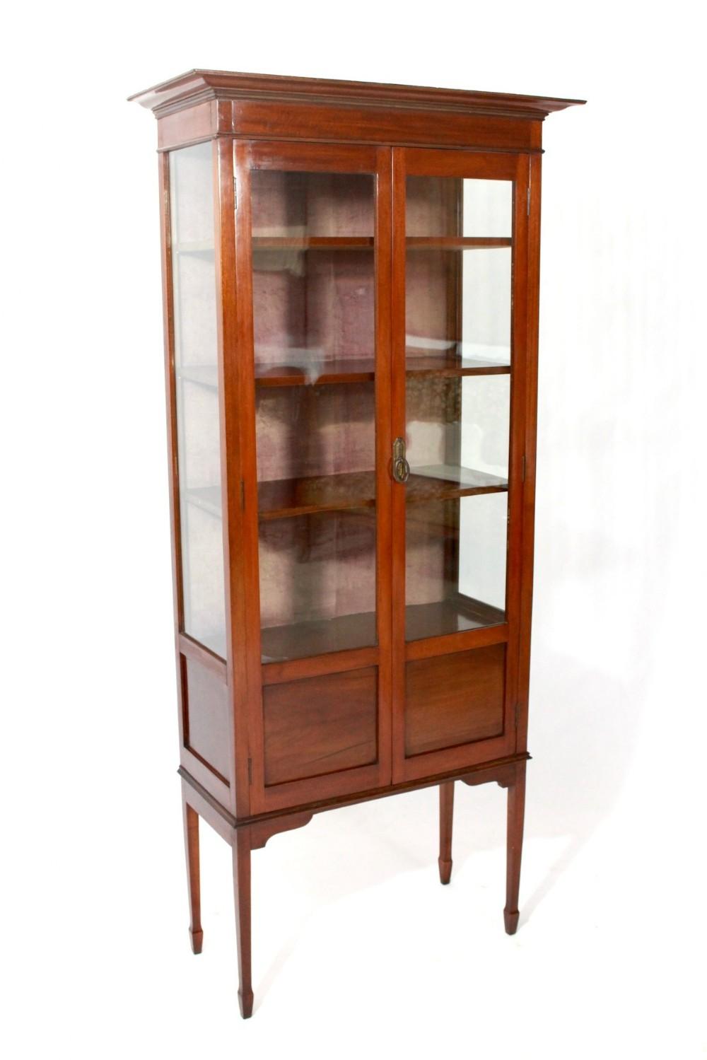 antique edwardian mahogany display cabinet - Antique Edwardian Mahogany Display Cabinet 307499