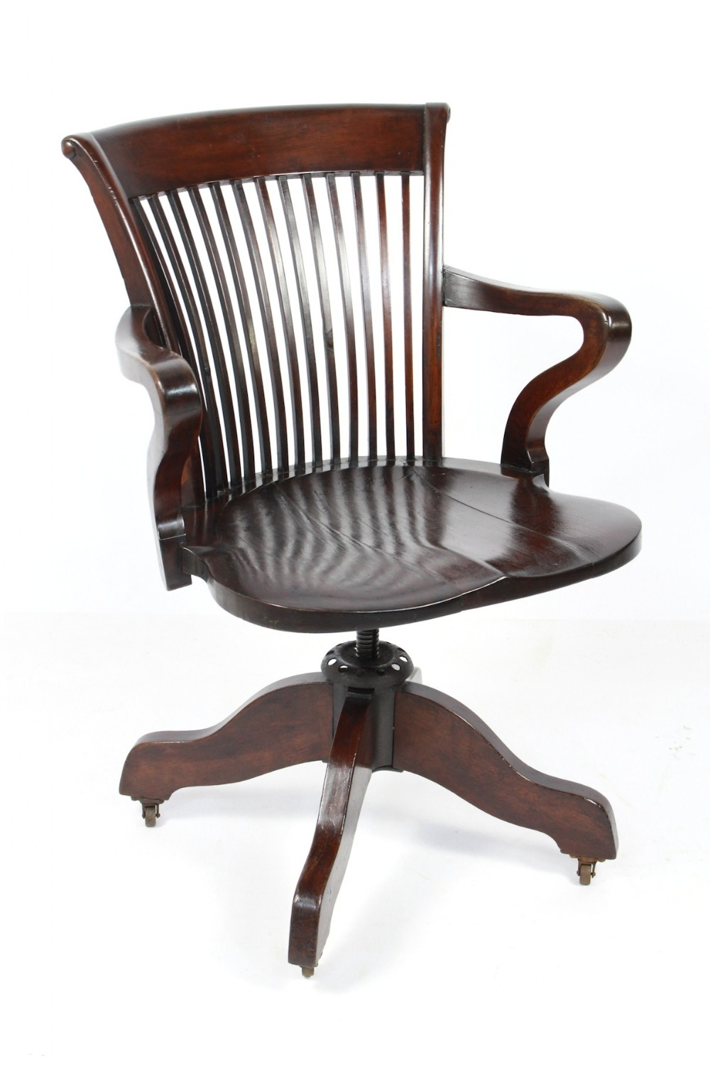 Edwardian Captains Desk Office Chair Swivel Adjust
