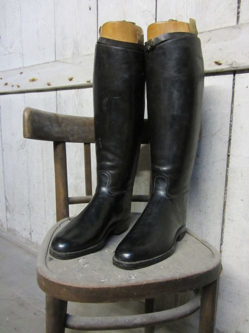 Superb Military Officer's Leather Riding Boots With Wooden Trees ...