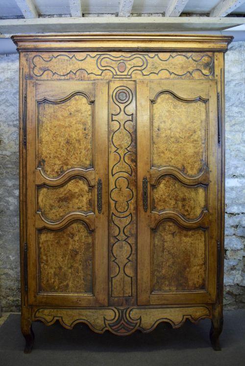 provincial french oak burr elm bressan armoire