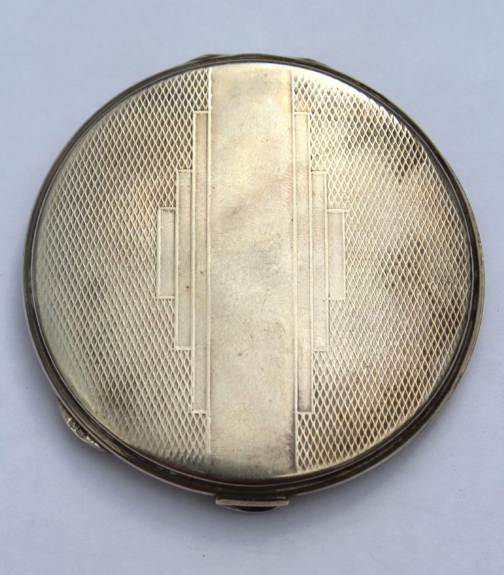 art deco silver compact birmingham 1920 broadway co