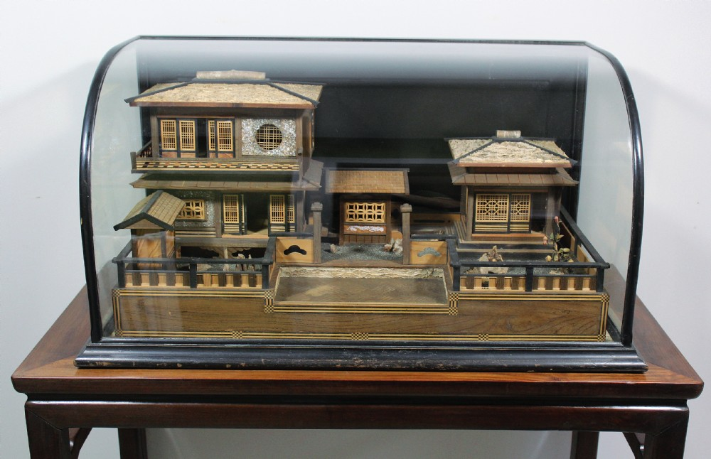 antique japanese scale model of a traditional house