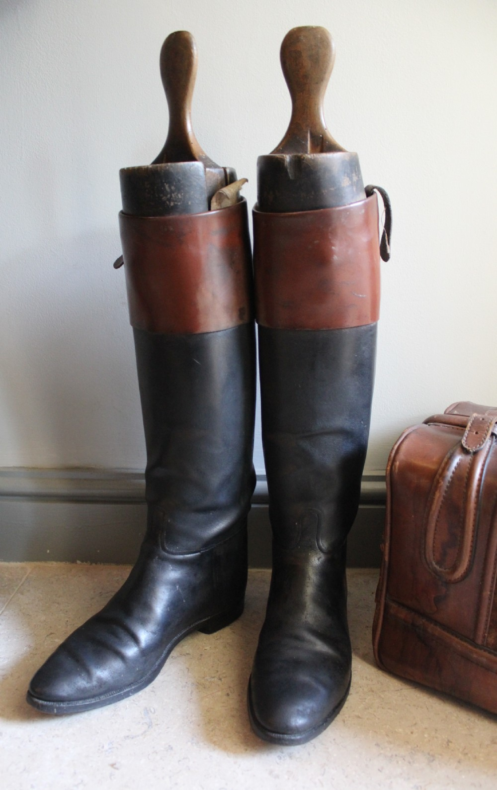 A Pair Of Vintage Brown Top Leather Hunting Riding Boots | 309070 ...