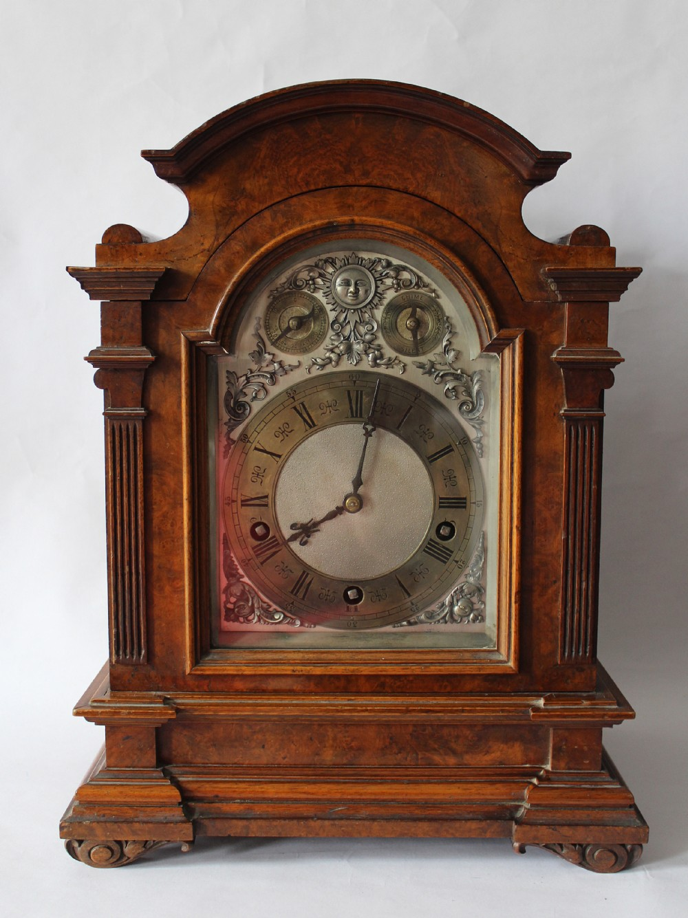 Antique Burr Walnut Bracket Clock By Lenzkirch, Germany ...