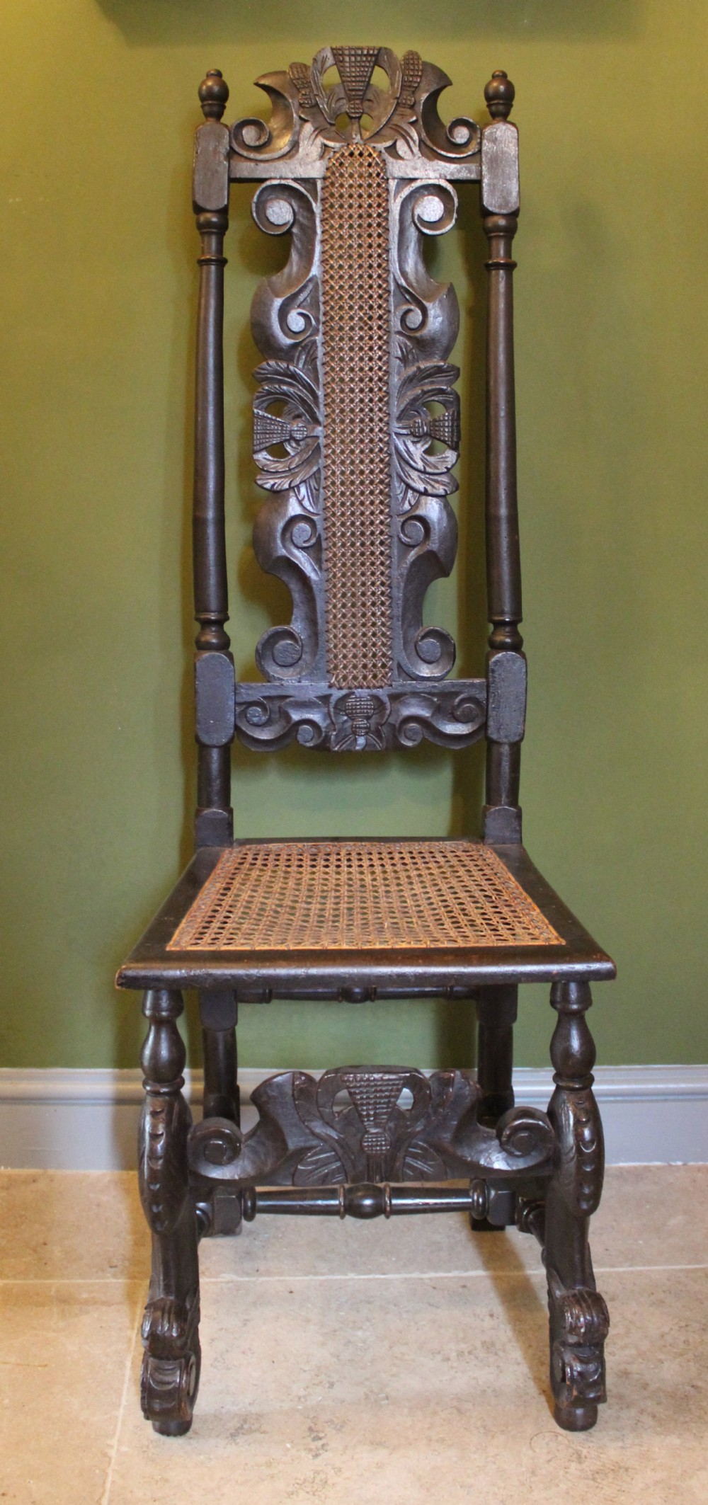 Scottish 17th Century Highback Cane Chair | 399818 | Sellingantiques.co.uk
