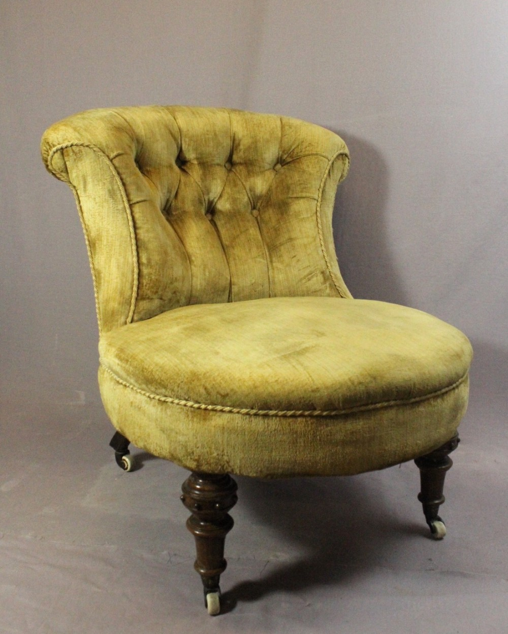 victorian button back bedroom nursing chair & Victorian Button Back Bedroom / Nursing Chair | 413940 ...