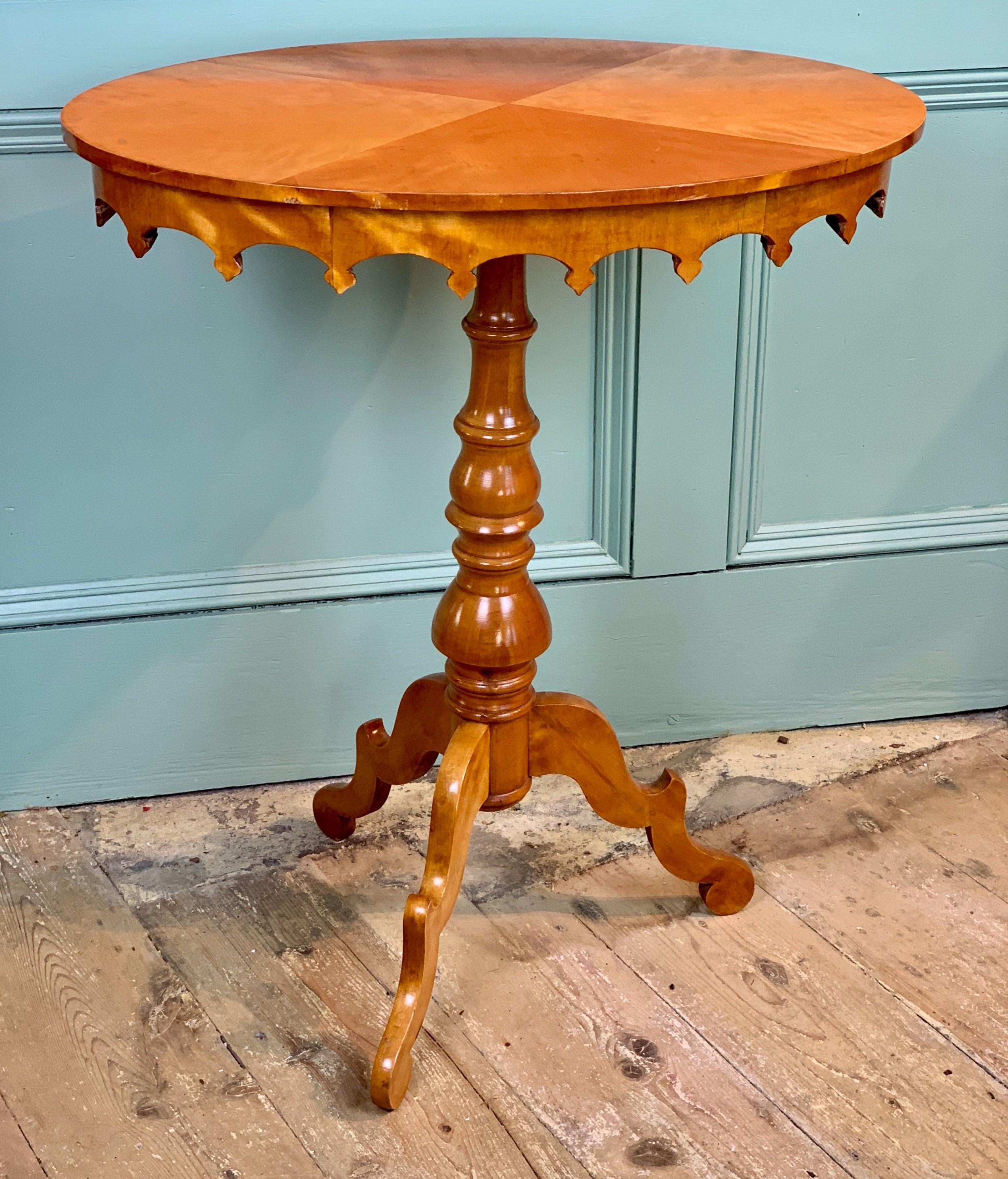 antique swedish biedermeier satin birch oval occasional table