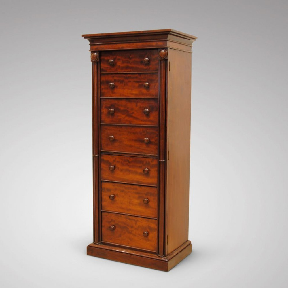 superb quality regency period secretaire wellington chest