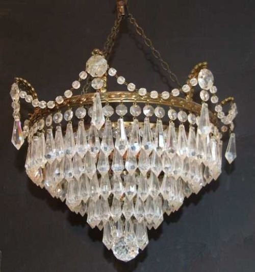 ... antique chandelier lighting 1920 crystal value antique chandelier  antique lighting antique crystal ... - Vintage Chandelier: NEW 562 ANTIQUE CRYSTAL CHANDELIER VALUE