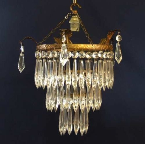 Edwardian 3 tier icicle chandelier 65287 sellingantiques edwardian 3 tier icicle chandelier aloadofball Image collections