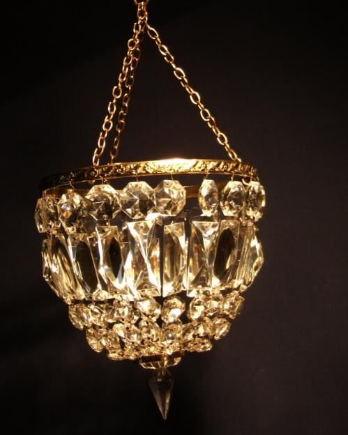 edwardian crystal purse chandelier