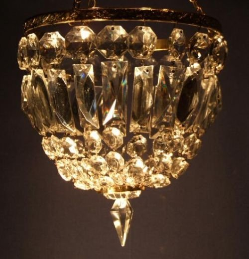 edwardian crystal purse chandelier - photo angle #2