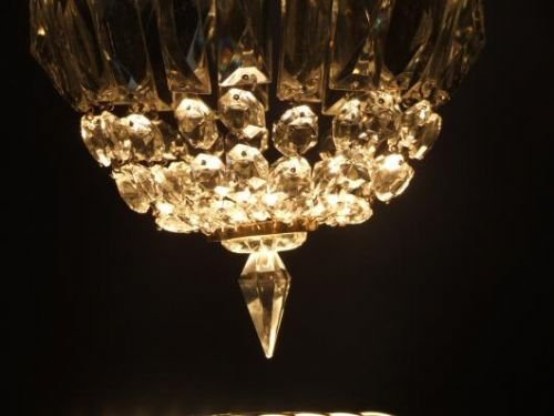 edwardian crystal purse chandelier - photo angle #3