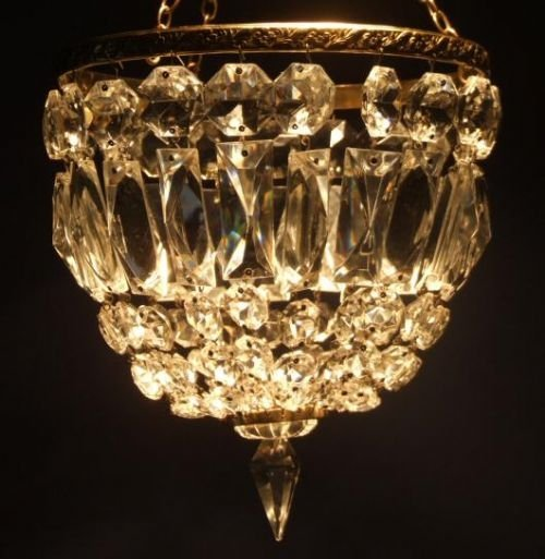 edwardian crystal purse chandelier - photo angle #4