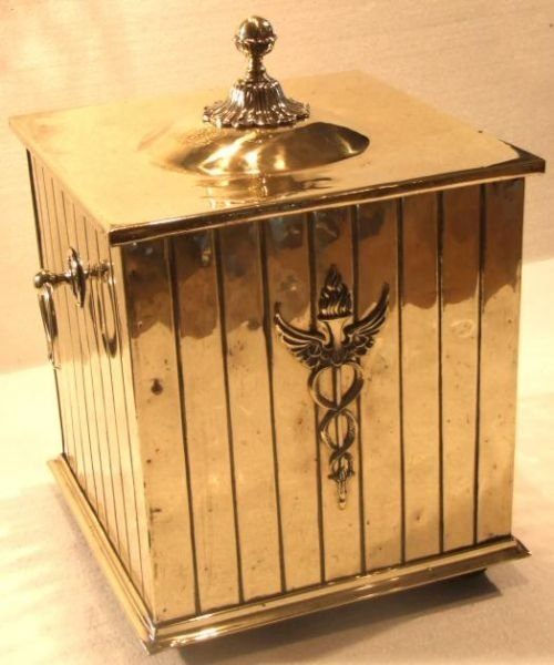 edwardian brass coal bin - photo angle #2