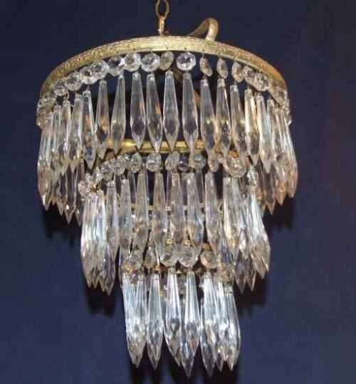 Antique edwardian 3 tier icicle chandelier 24616 antique edwardian 3 tier icicle chandelier aloadofball Image collections