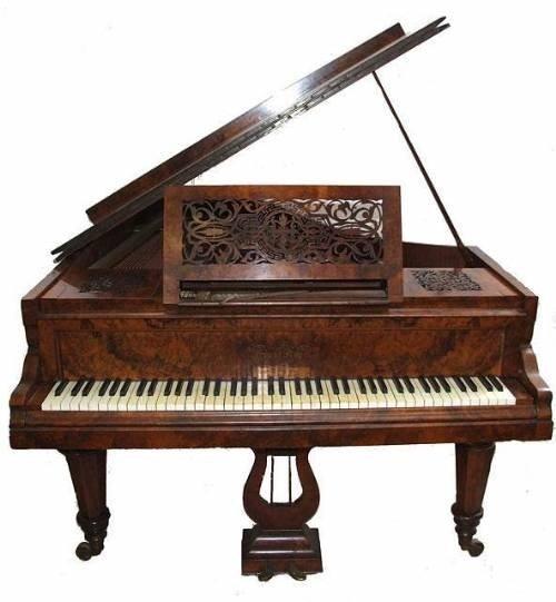 ernst kaps burr walnut victorian antique piano