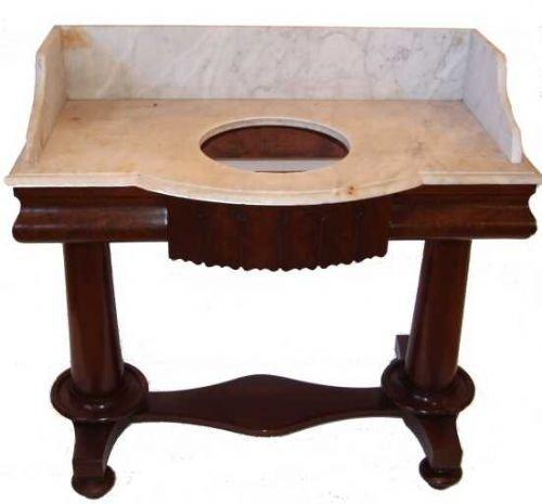 Early Victorian Mahogany Marble Top Washstand 56738