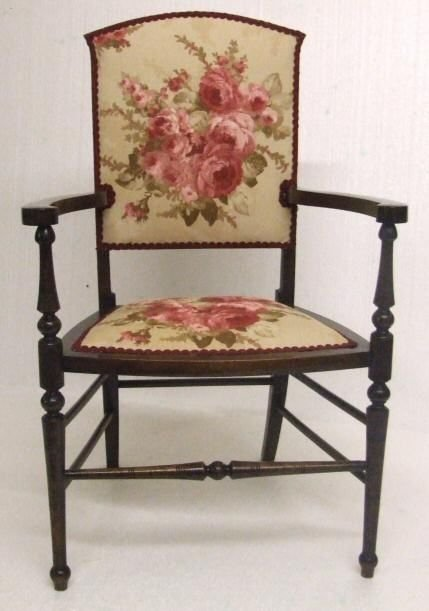 EDWARDIAN MAHOGANY BEDROOM CHAIR