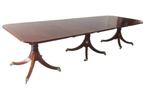 Regency triple pillar dining table to seat 14 31185 for 14 seater dining table