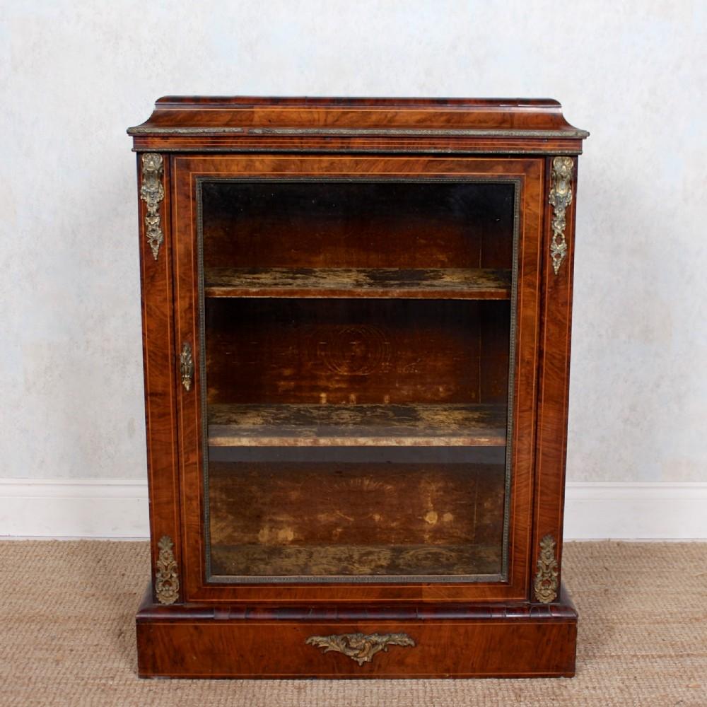 pier cabinet inlaid walnut 19th century