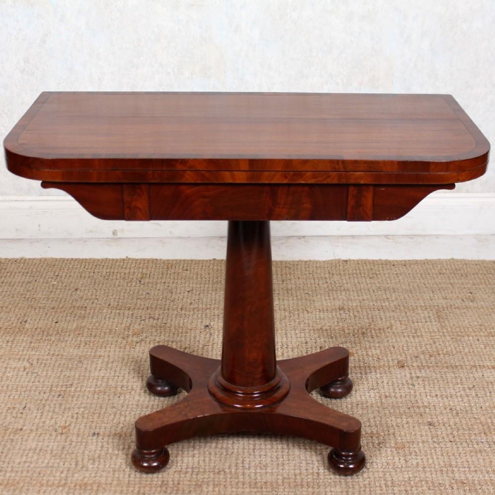 card table cuban mahogany victorian