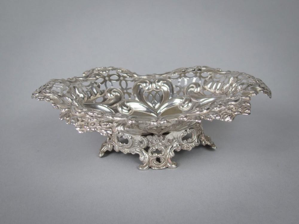 sterling silver bon bon dish by charles boyton sons london 1893