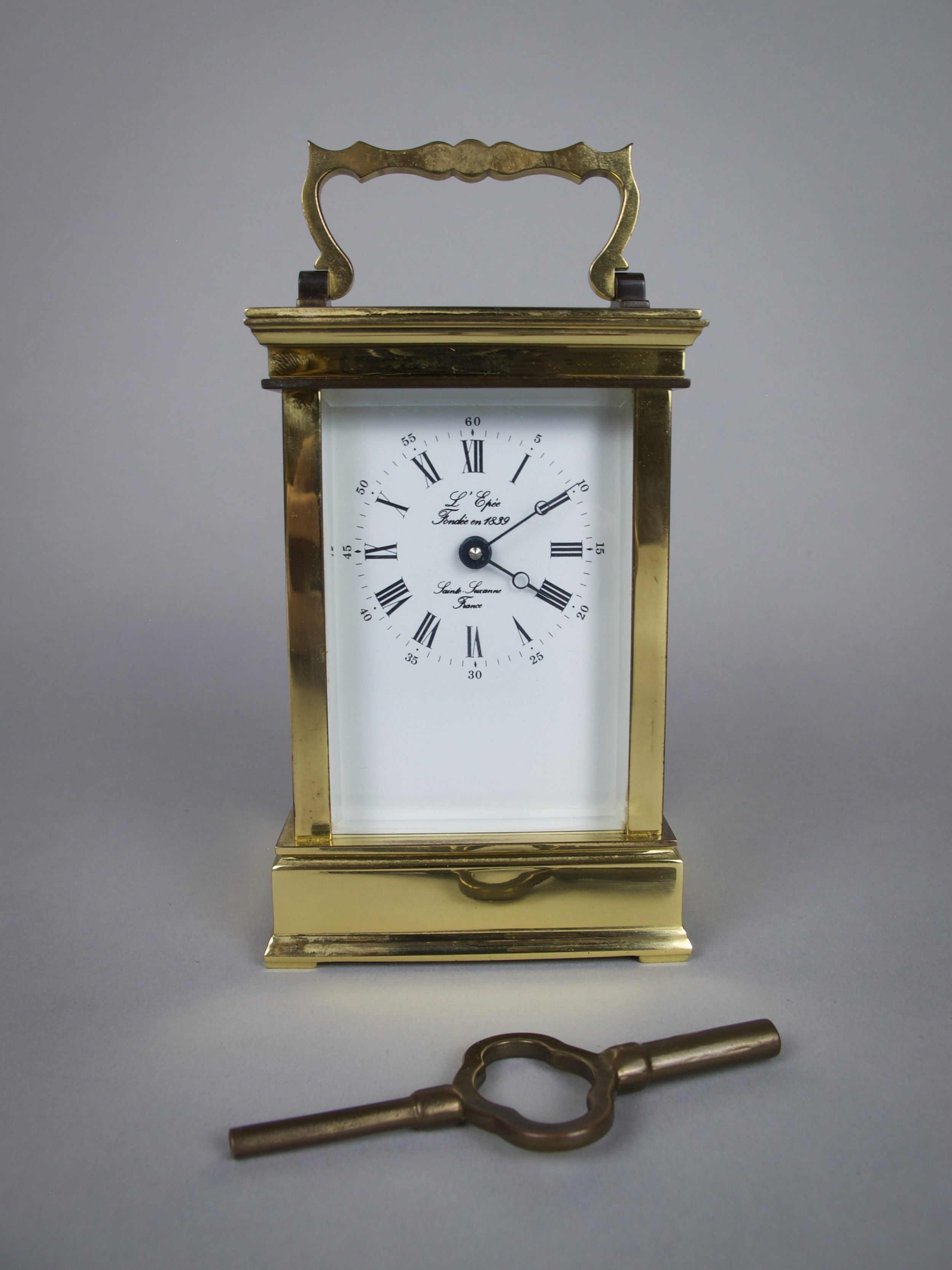 20th century l'epee french brass carriage clock with 8 day movement
