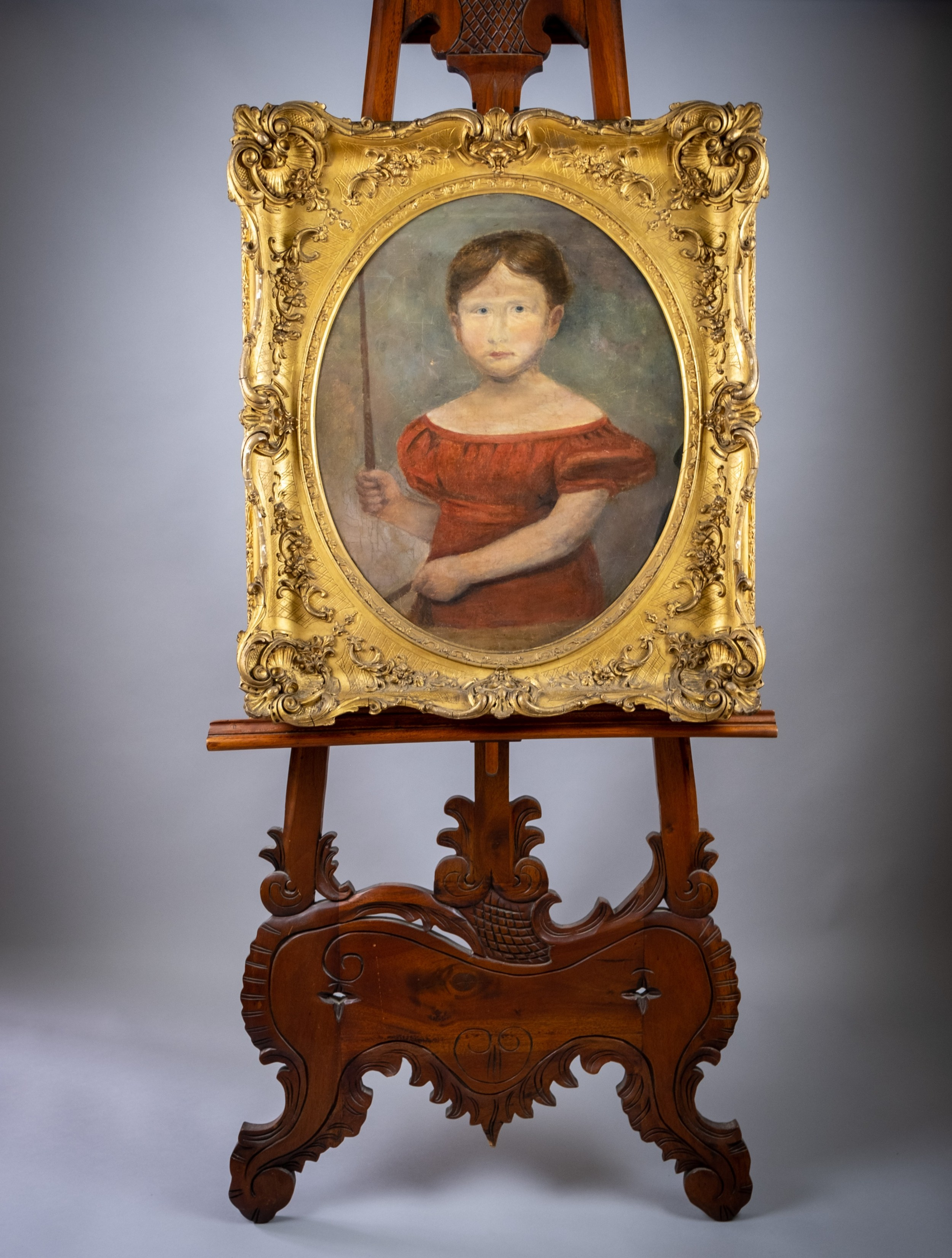 large early 19th century portrait of a young girl english school oil on canvas