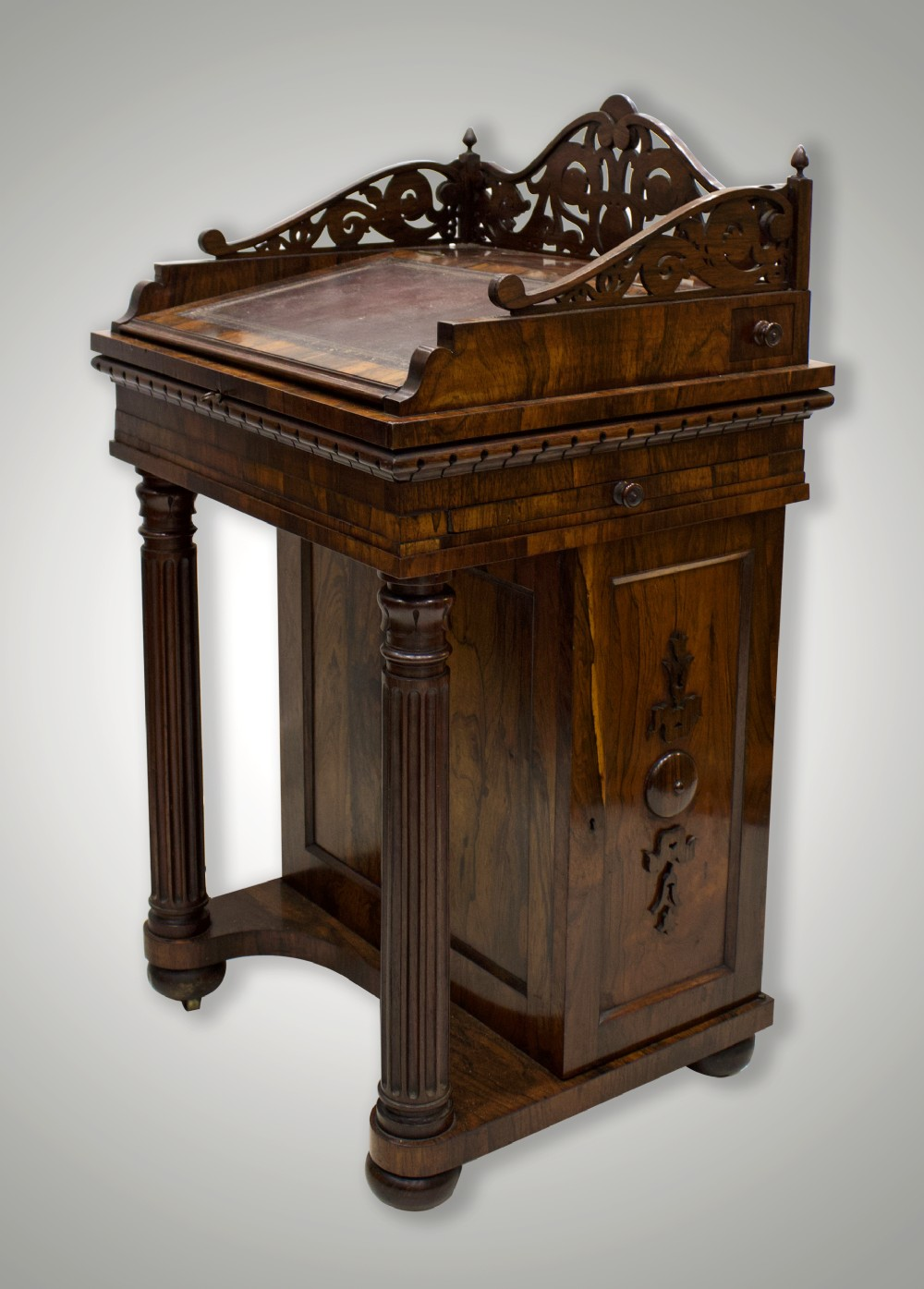 stunning quality 19th century rosewood davenport