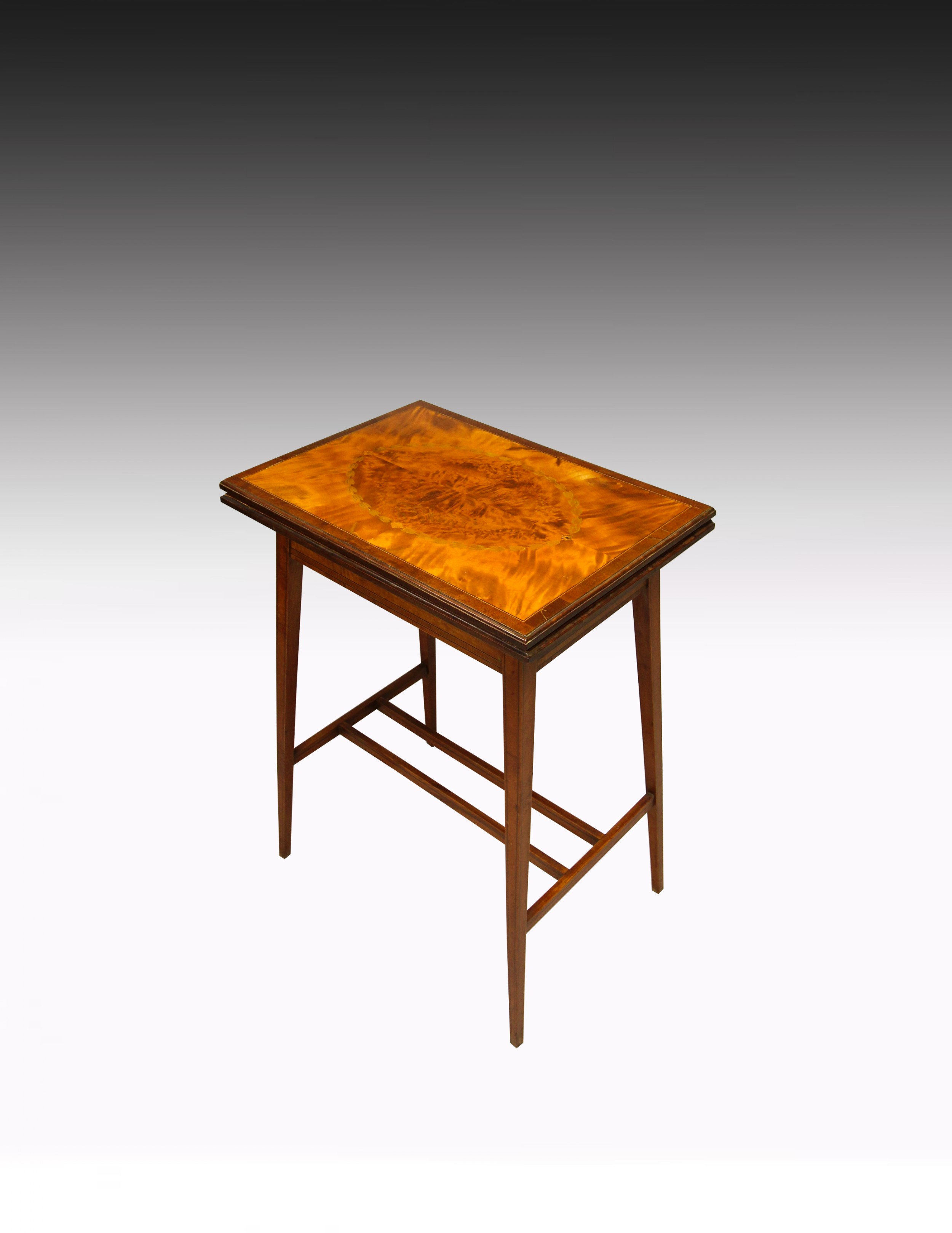 a very pretty satinwood inlaid card table