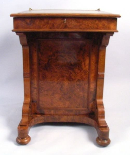 victorian burr walnut davenport - photo angle #2