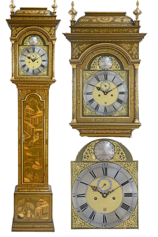 antique 8 day long case clock by john pyke london circa 1730