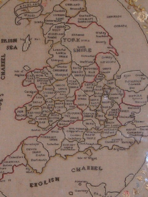 early 19th century sampler map of england wales - photo angle #2