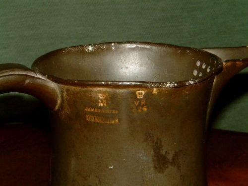 pair of victorian pewter ale jugs - photo angle #3