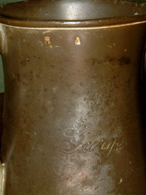 pair of victorian pewter ale jugs - photo angle #4