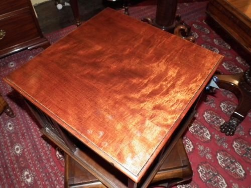 edwardian mahogany revolving bookcase - photo angle #3