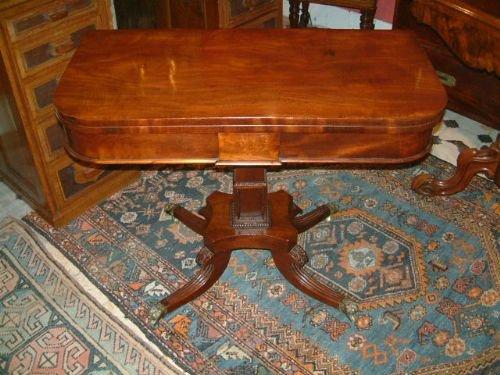 regency period mahogany pedestal card table