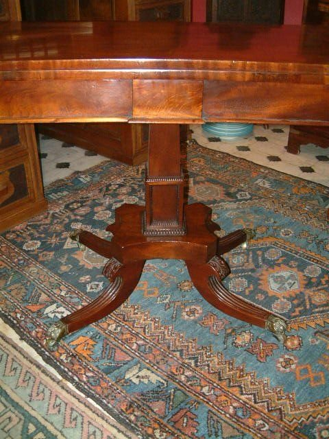 regency period mahogany pedestal card table - photo angle #2