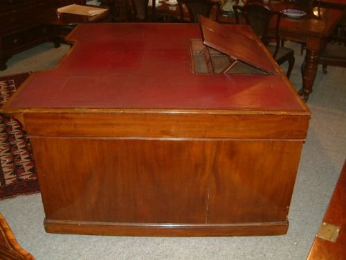 superb victorian large partners desk provenance somerset house london - photo angle #2