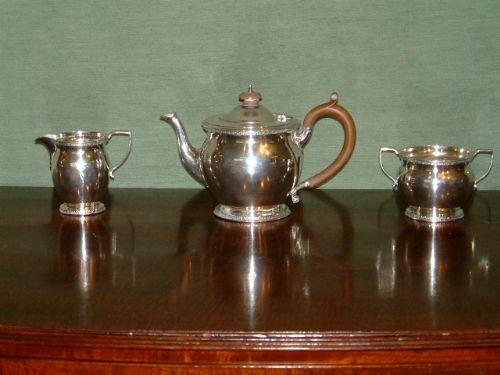 hallmarked scottish silver tea set edinburgh edinburgh 1927