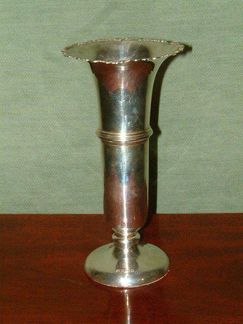 hallmarked silver vase birmingham c1925