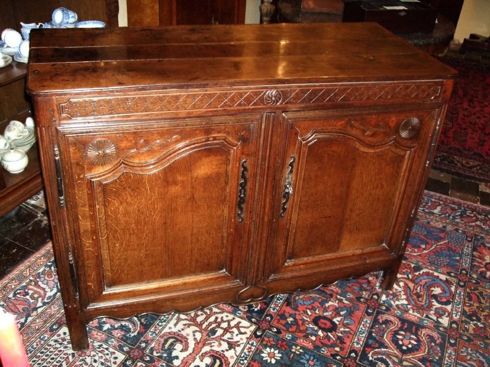 beautiful 18thc french provincial chestnutoak carved buffet