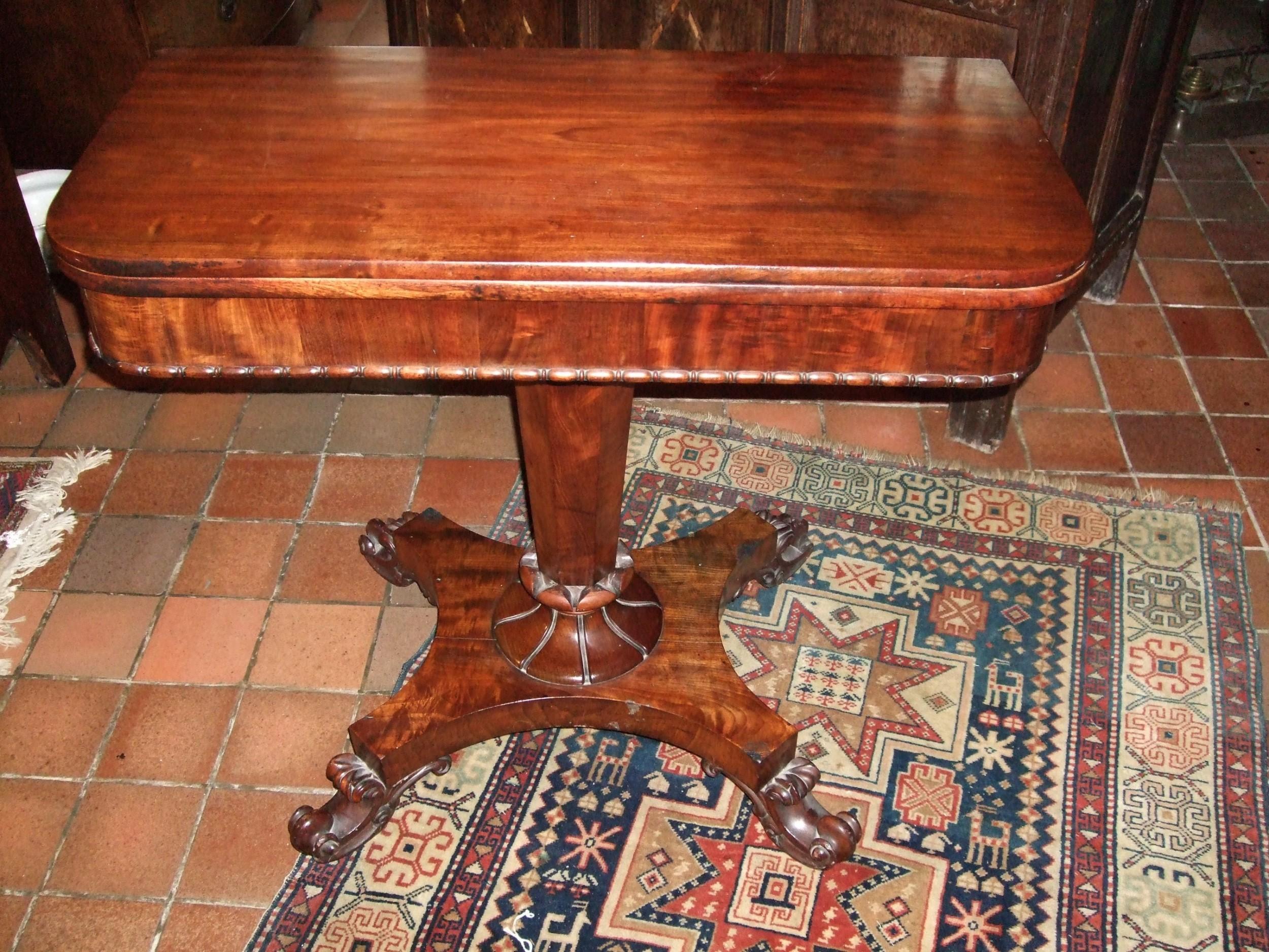 george 3rd mahogany tea table
