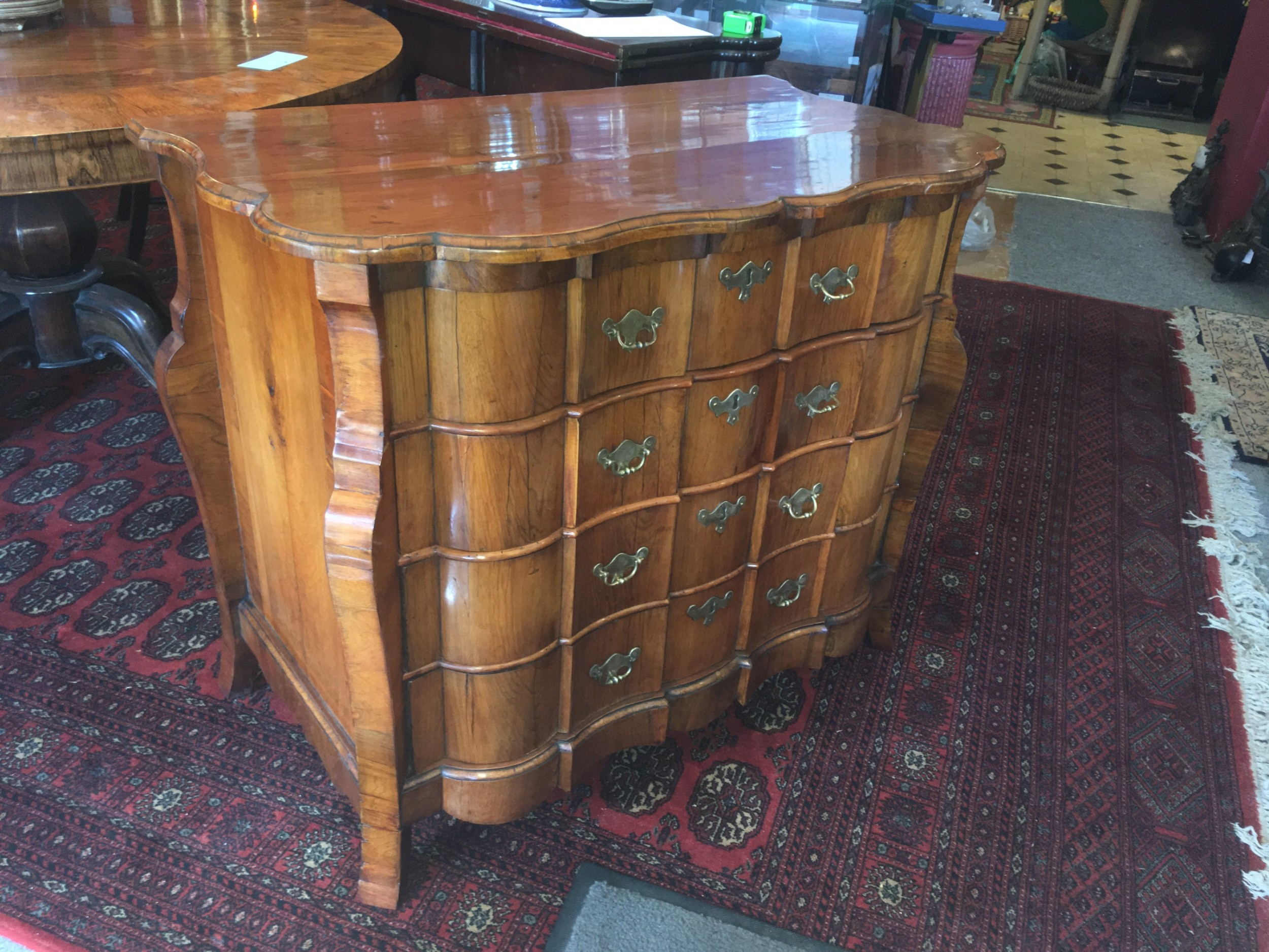 18thc walnutfruitwood dutchchest of drawers