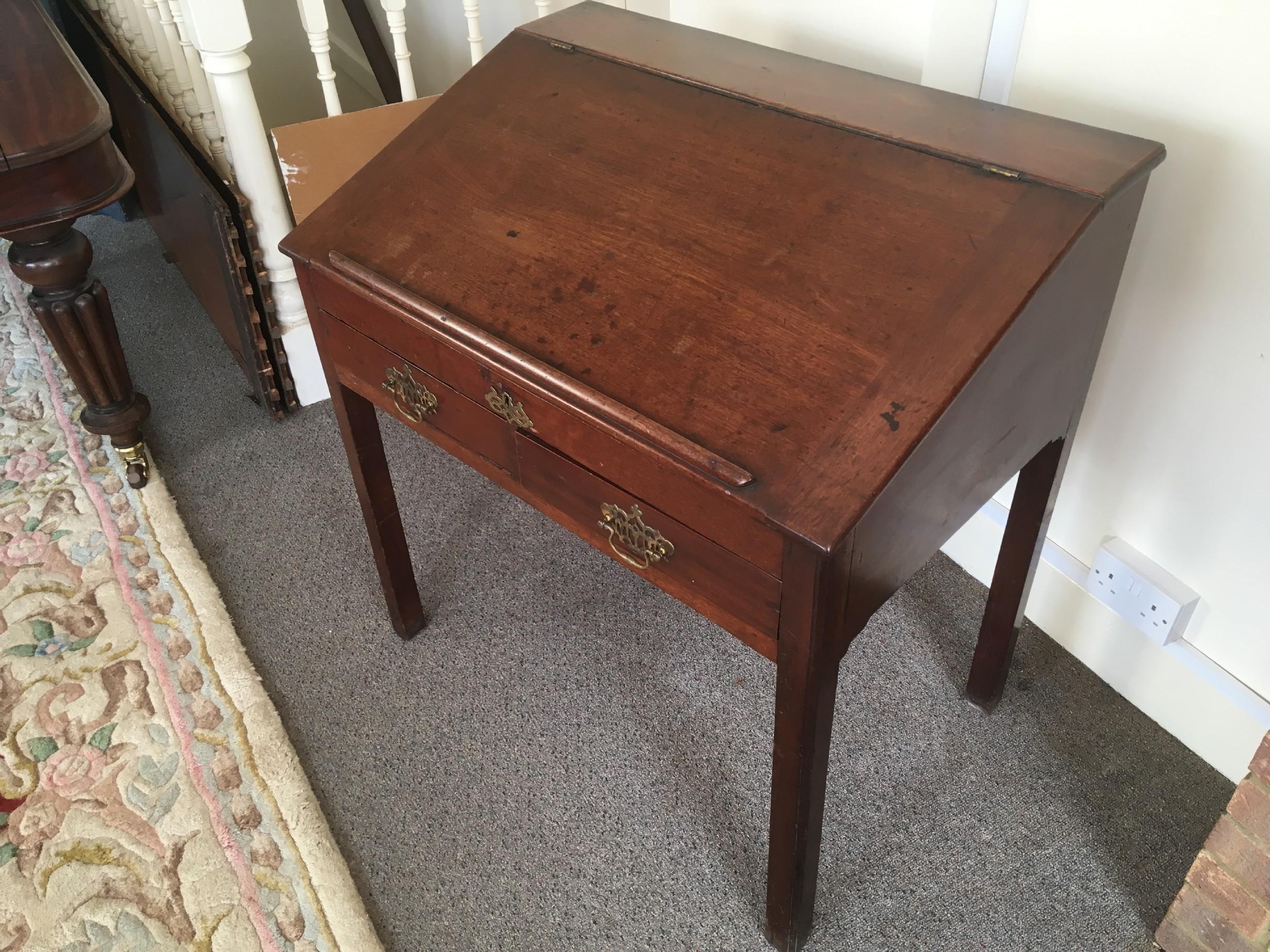 george 3rd mahogany writing deskwith 6 drawers
