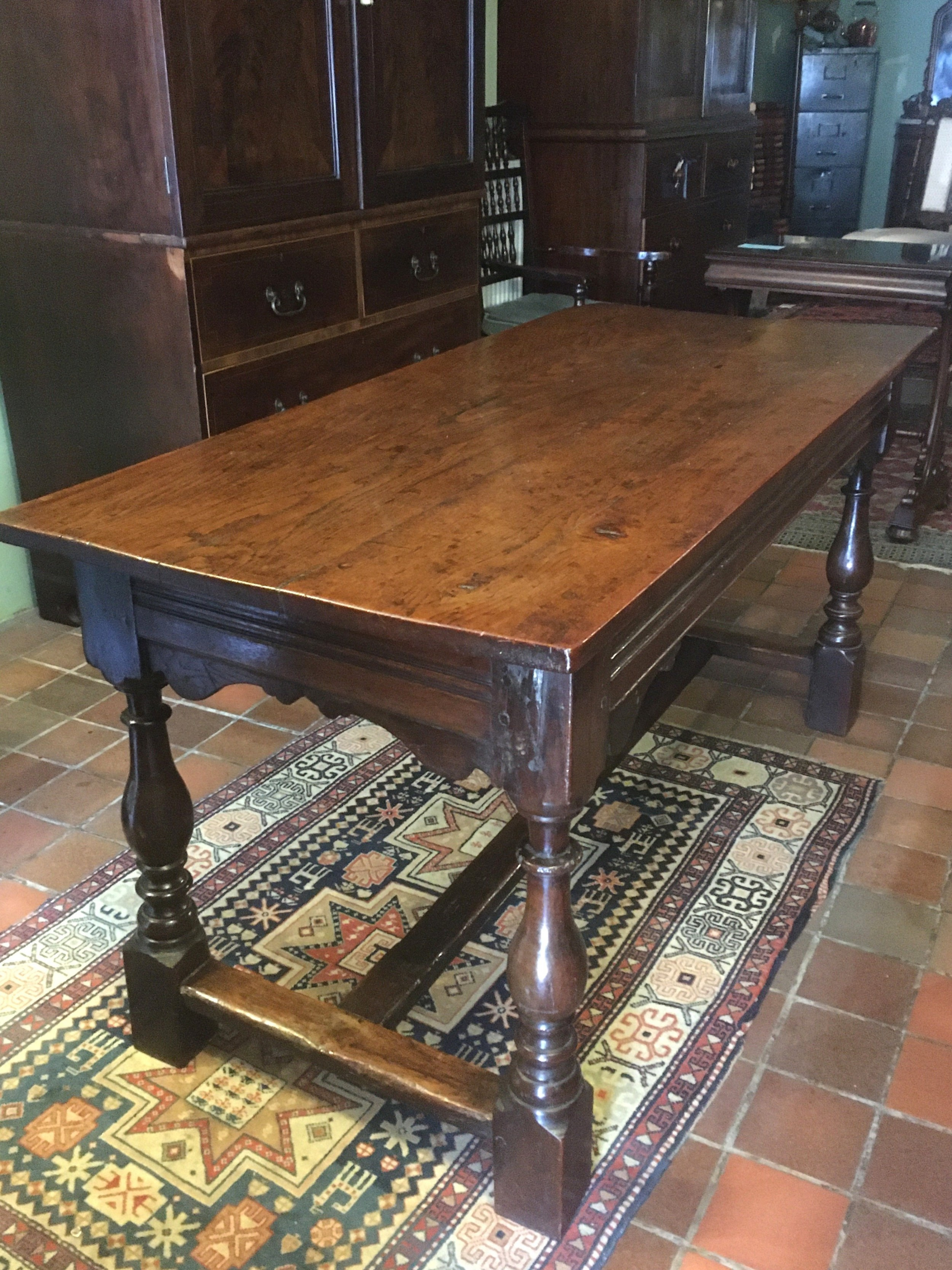 18thc oak refrectory dining table